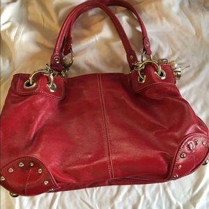 Red Kathy Van Zeeland Shoulder Bag